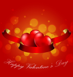 Valentines day concept of heart with realistic re vector