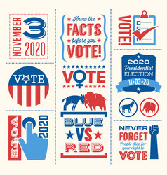Vote in 2020 presidential election vector