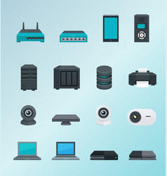 wireless assets and devices vector image