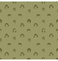 Womans Hair Style Silhouettes Seamless pattern vector