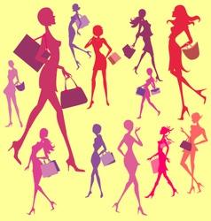 Women Shopping Digital Clip art vector image