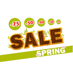 wooden letters forming the word sale vector image
