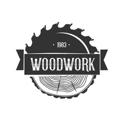 Woodworking logo template vector