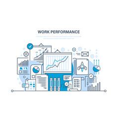 Work performance teamwork analysis planning vector