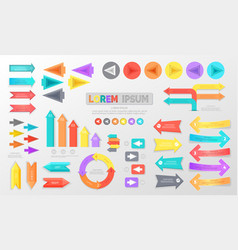 arrows for schemes and infographics vector image
