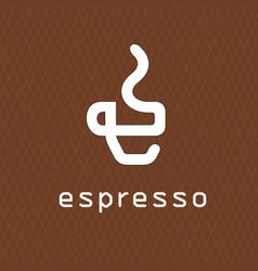 cofee logo concept business vector image