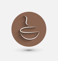 Coffee shop Coffee icon cafe design vector image