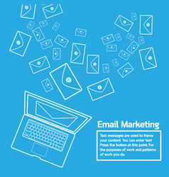 laptop send email marketing vector image vector image