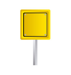 square emblem notice in blank vector image vector image