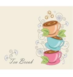 tea break vector image vector image