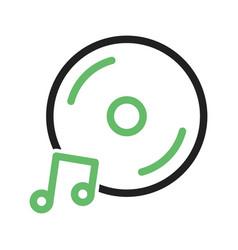 Music cd vector