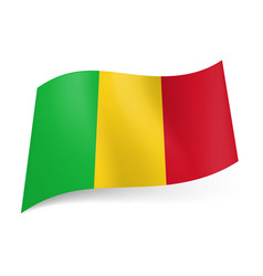 national flag of mali green yellow and red vector image vector image