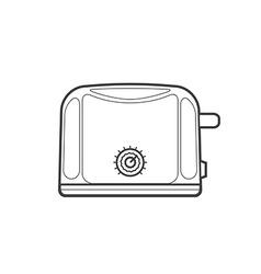 Outline kitchen toaster vector