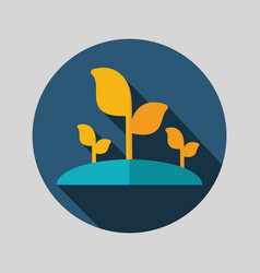 plant sprout flat icon vector image vector image
