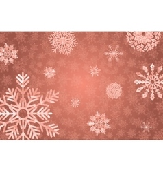 Winter holidays snowy golden background vector image vector image