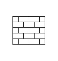 brick wall outline icon vector image vector image