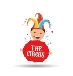 circus juggler isolated icon design vector image vector image
