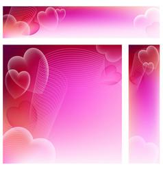 heart website banners vector image vector image