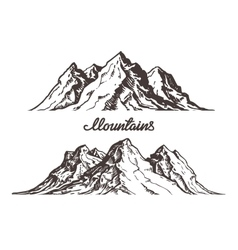 Mountains sketch Hand drawn vector image vector image