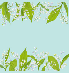 spring and summer floral frame holidays decoration vector image vector image