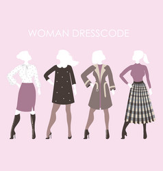 young women in fashion clothingwoman dresscode vector image