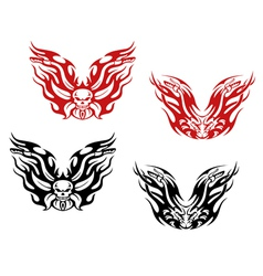 Bikers and bikes tattoos vector image