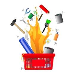 DIY shopping card vector image vector image