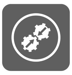 Gear integration flat squared icon vector