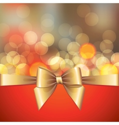 gold blurred lights and bow vector image vector image