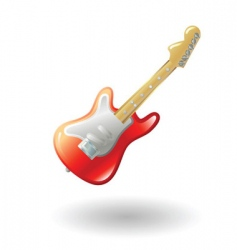 guitar illustration vector image vector image
