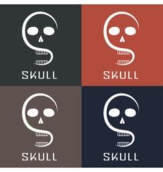skull monogram vector image