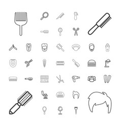 37 barber icons vector