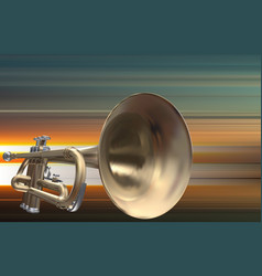 abstract grunge background with trumpet vector image