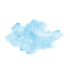 Abstract light blue clouds watercolor stain on vector