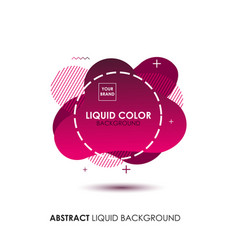 Abstract liquid banner with line frame and brand vector