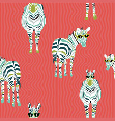 abstract pattern fashion horse zebra background vector image