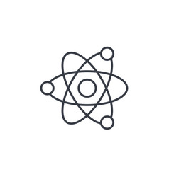 atom physic symbol thin line icon linear vector image