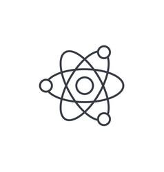 Atom physic symbol thin line icon linear vector