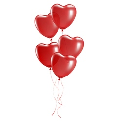 balloons in shape heart vector image