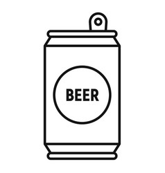 Beer tin can icon outline style vector