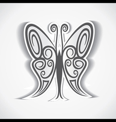 black and white butterfly background vector image