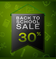 black pennant with back to school sale thirty vector image