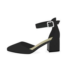 Black sandal vector