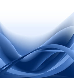 Blue waves abstract background vector image