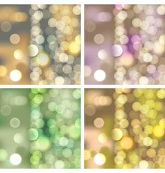 Blurred lights backgrounds vector