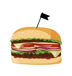 Burger realistic fast food vector