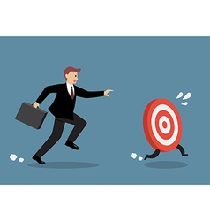 Businessman try to catch target vector