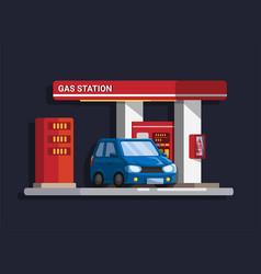 car gas station building vector image