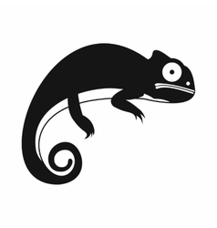 Chameleon icon simple style vector