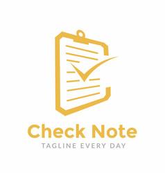 Check note logo design template vector
